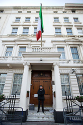 © Licensed to London News Pictures. 02/12/2011. Police guard the Embassy of the Islamic Republic of Iran in London today (02/12/2011). Diplomats working at the Iranian embassy in London have been given this afternoon as a deadline to leave the UK, after the British embassy in Tehran was stormed. Photo credit: Ben Cawthra/LNP