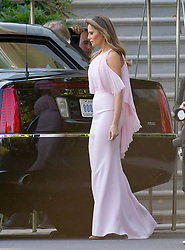 United States President Donald J. Trump and first lady Melania Trump depart the White House in Washington, DC, USA to attend the wedding of US Secretary of the Treasury Steven Mnuchin and Louise Linton on Saturday, June 24, 2017. Photo by Ron Sachs/CNP/ABACAPRESS.COM
