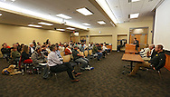 About 70 people attended a forum about medical cannabis at the Iowa City Public Library in Iowa City on Tuesday, November 19, 2013.
