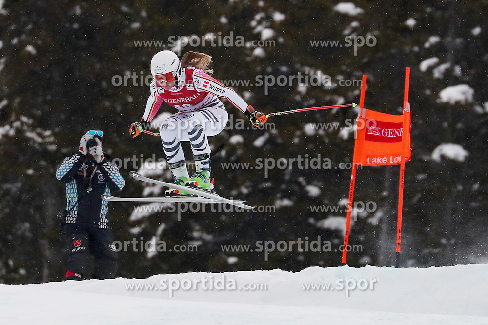 01.12.2016, Lake Louise, USA, FIS Weltcup Ski Alpin, Lake Louise, Abfahrt, Damen, Training, im Bild WENIG Michaela // during the practice run of women's Downhill of the Lake Louise FIS Ski Alpine World Cup. Lake Louise, Austria on 2016/12/01. EXPA Pictures &copy; 2016, PhotoCredit: EXPA/ SM<br /> <br /> *****ATTENTION - OUT of GER*****