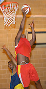 Thursday 26th April, 2007. Erks' Craig Pringle lays the ball up for another score during Barking and Dagenham Erkenwald's EMBL Play Off semi-final against Lakers at Sydney Russell. Erkenwald won the game 90 - 69.