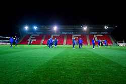 Bristol Rovers players arrives at St James Park prior to kick off - Mandatory by-line: Ryan Hiscott/JMP - 13/11/2018 - FOOTBALL - St James Park - Exeter, England - Exeter City v Bristol Rovers - Checkatrade Trophy