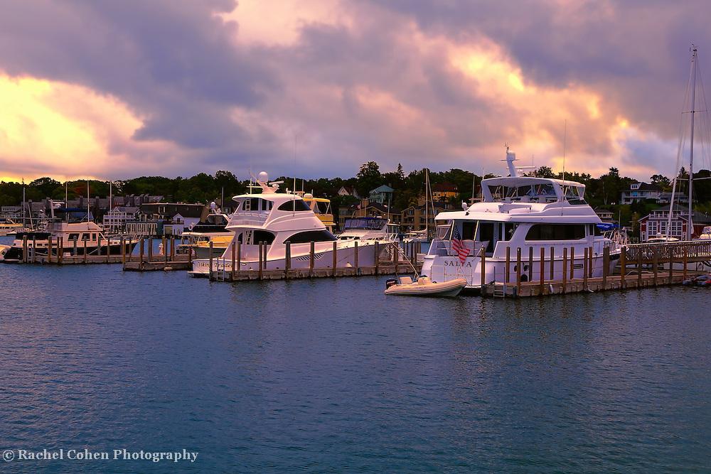 &quot;Charlevoix City Boat Marina&quot;<br /> <br /> Beautiful skies over Charlevoix City Marina!