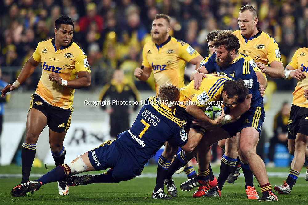 Conrad Smith of the Hurricanes during the Super Rugby Final match between the Hurricanes and Highlanders at Westpac Stadium, Wellington, New Zealand. 4 July 2015. Copyright Photo: Andrew Cornaga / www.Photosport.nz