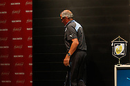 Uruguay manager Oscar Tabarez leaves the room after during the Uruguay press conference at Maracana Stadium, Rio de Janeiro, Brazil, ahead of their last 16 FIFA World Cup 2014 match against Colombia<br /> Picture by Andrew Tobin/Focus Images Ltd +44 7710 761829<br /> 27/06/2014
