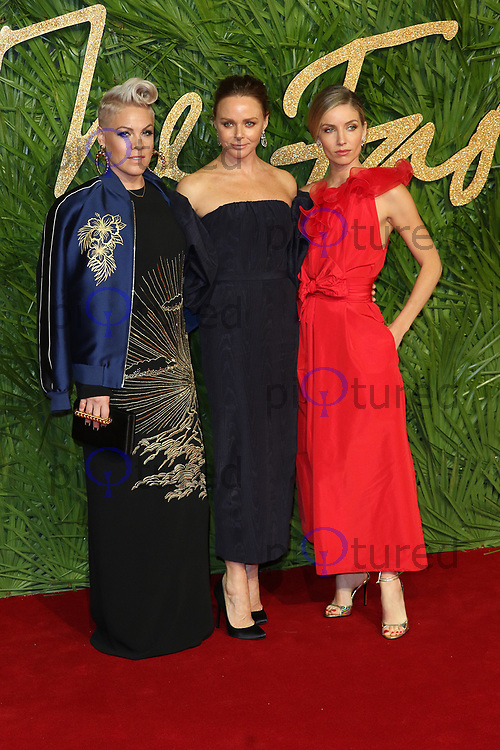 Pink, Stella McCartney, Annabelle Wallis, The Fashion Awards 2017, The Royal Albert Hall, London UK, 04 December 2017, Photo by Richard Goldschmidt