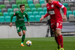 Andrejasic Jan of NK Olimpija Ljubljana during football match between NK Olimpija Ljubljana and NK Aluminij in Round #27 of Prva liga Telekom Slovenije 2018/19, on April 14th, 2019 in Stadium Stozice, Slovenia Photo by Matic Ritonja / Sportida
