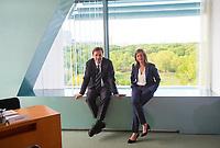DEU, Deutschland, Germany, Berlin, 15.05.2019: Regierungssprecher Steffen Seibert und die stellvertretende Regierungssprecherin Ulrike Demmer vor Beginn der 52. Kabinettsitzung im Bundeskanzleramt.