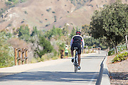 Biking on Trail in Yorba Linda California