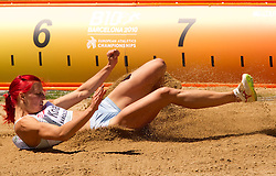 Nina Kolaric of Slovenia competes in the Womens Long Jump Qualifying during day one of the 20th European Athletics Championships at the Olympic Stadium on July 27, 2010 in Barcelona, Spain. (Photo by Vid Ponikvar / Sportida)
