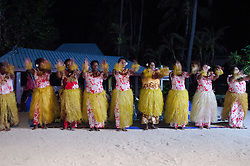 Native Fijian Women Sing and Dance at Turtle Island, Yasawa Islands, Fiji