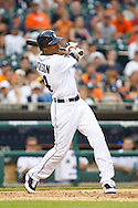 May 31, 2010: Detroit Tigers' Austin Jackson (14) during the MLB baseball game between the Oakland Athletics and Detroit Tigers at  Comerica Park in Detroit, Michigan. Oakland defeated Detroit 4-1.