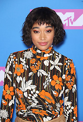 August 21, 2018 - New York City, New York, USA - 8/20/18.Amandla Stenberg at the 2018 MTV Video Music Awards held at Radio City Music Hall in New York City..(NYC) (Credit Image: © Starmax/Newscom via ZUMA Press)