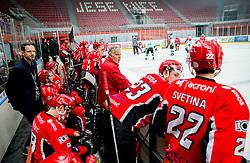 Gaber Glavic, head coach of Jesenice during ice hockey match between HDD SIJ Acroni Jesenice and HK SZ Olimpija in 10th Round of AHL - Alps Hockey League 2017/18, on October 14, 2017 in Arena Podmezakla, Jesenice, Slovenia. Photo by Vid Ponikvar / Sportida