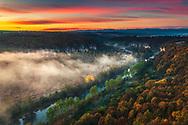 Canyon of Vit river ad sunrise