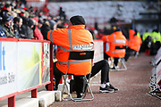 Security at match time during the EFL Sky Bet Championship match between Sheffield United and Nottingham Forest at Bramall Lane, Sheffield, England on 17 March 2018. Picture by Mick Haynes.