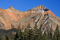 13,894 ft. Vermillion Peak (right) of the San Juan Mountains. Colorado