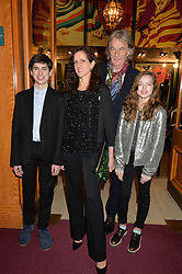 SIR PAUL SMITH with STEPHANIE DENYER and her children POPPY DENYER and ZANY DENYER at the Cirque Du Soleil's VIP performance of Kooza at The Royal Albert Hall, London on 6th January 2015.