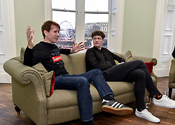 Alex Kapranos from Edinburgh Hogmanay headliners Franz Ferdinand spoke to the media ahead of the sell-out concert in Princes Street gardens.<br /> <br /> © Dave Johnston / EEm
