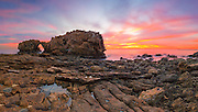 Arch Rock Corona Del Mar at Sunset in Orange County California