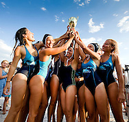 Winning team of the local non-professional women's water polo final, in the evening on the waterfront in Zadar, Croatia (Saturday 11 August 2012)