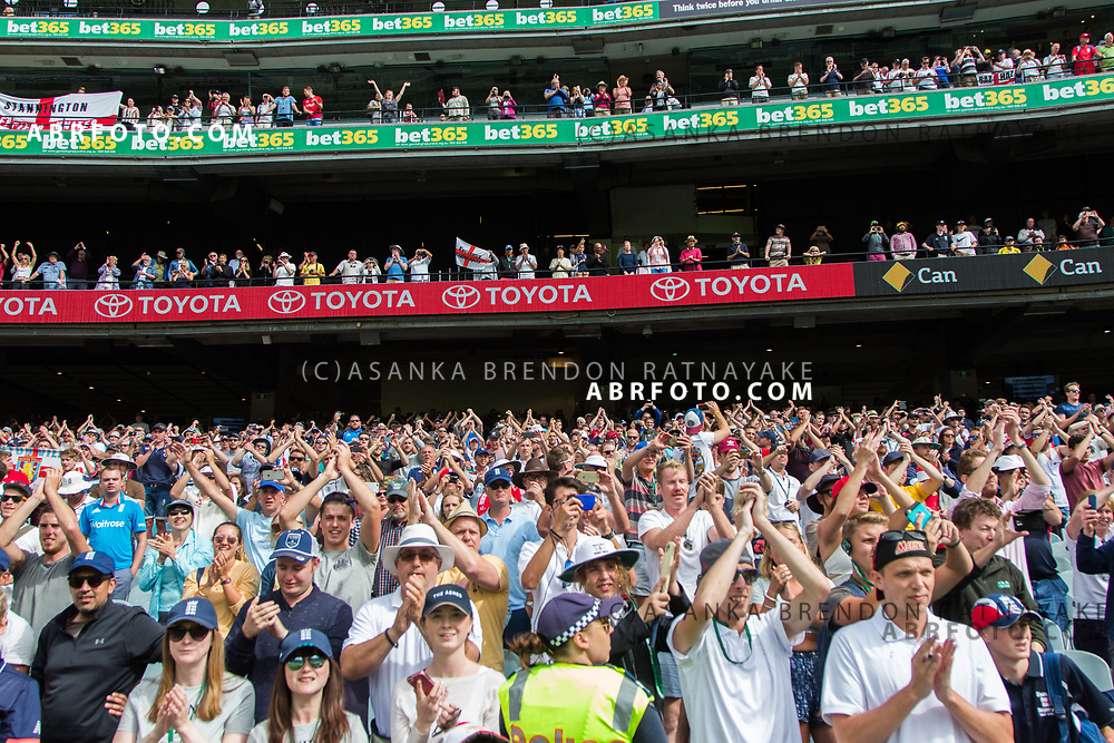 England barmy Army supporters cheer during day 5 of the 2017 boxing day test.