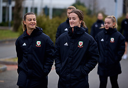 BOLOGNA, ITALY - Tuesday, January 22, 2019: Wales' Ella Powell (L) and Gwennan Davies during a pre-match walk at the team hotel in Bologna ahead of the International Friendly game against Italy. (Pic by David Rawcliffe/Propaganda)