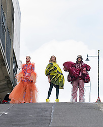Pictured: design by students Franz Maggs, Juexin Zhang and Rongqing Wang.<br /> <br /> Students studying fashion design at Glasgow School of Art previewed their work before their annual degree show.<br /> <br /> © Dave Johnston / EEm