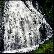 Oshinkoshin Falls near Utoro in the Shiretoko National Park, an UNESCO World Heritage Site, Hokkaido, Japan.