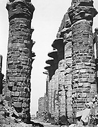 Central alley of the great temple at Karnak. Anonymous photograph 1878.