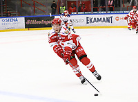 2020-02-12 | Ljungby, Sweden: Troja-Ljungby (45) Oscar Öhman during the game between IF Troja / Ljungby and Huddinge IK at Ljungby Arena ( Photo by: Fredrik Sten | Swe Press Photo )<br /> <br /> Keywords: Ljungby, Icehockey, HockeyEttan, Ljungby Arena, IF Troja / Ljungby, Huddinge IK, fsth200212, ATG HockeyEttan, Allettan