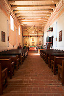 Mission San Miguel Arcangel Chapel Famous for Munras Murals on the Walls, San Miguel, California