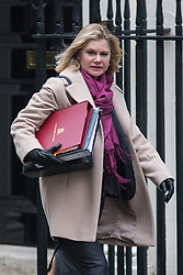 © Licensed to London News Pictures. 31/01/2017. London, UK. Education Secretary Justine Greening arriving at Downing Street for a cabinet meeting this morning. Photo credit : Tom Nicholson/LNP