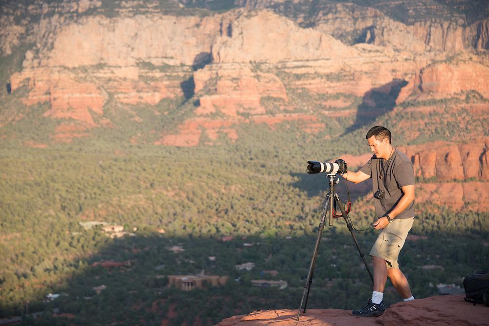 Man Photgraphing Sedona