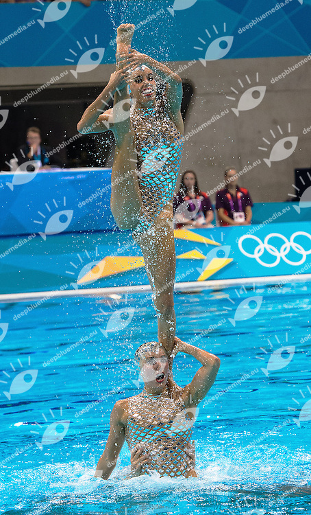 Spain.Team Final .London 2012 Olympics - Olimpiadi Londra 2012.day 15 Aug.10 Synchronized Swimming.Photo G.Scala/Deepbluemedia.eu/Insidefoto