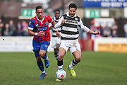 Forest Green Rovers Fabien Robert(26) runs forward during the Vanarama National League match between Dagenham and Redbridge and Forest Green Rovers at the London Borough of Barking and Dagenham Stadium, London, England on 11 March 2017. Photo by Shane Healey.