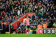 Southamptons Maya Yoshida celebrates during the Capital One Cup match between Southampton and Aston Villa at the St Mary's Stadium, Southampton, England on 28 October 2015. Photo by Adam Rivers.