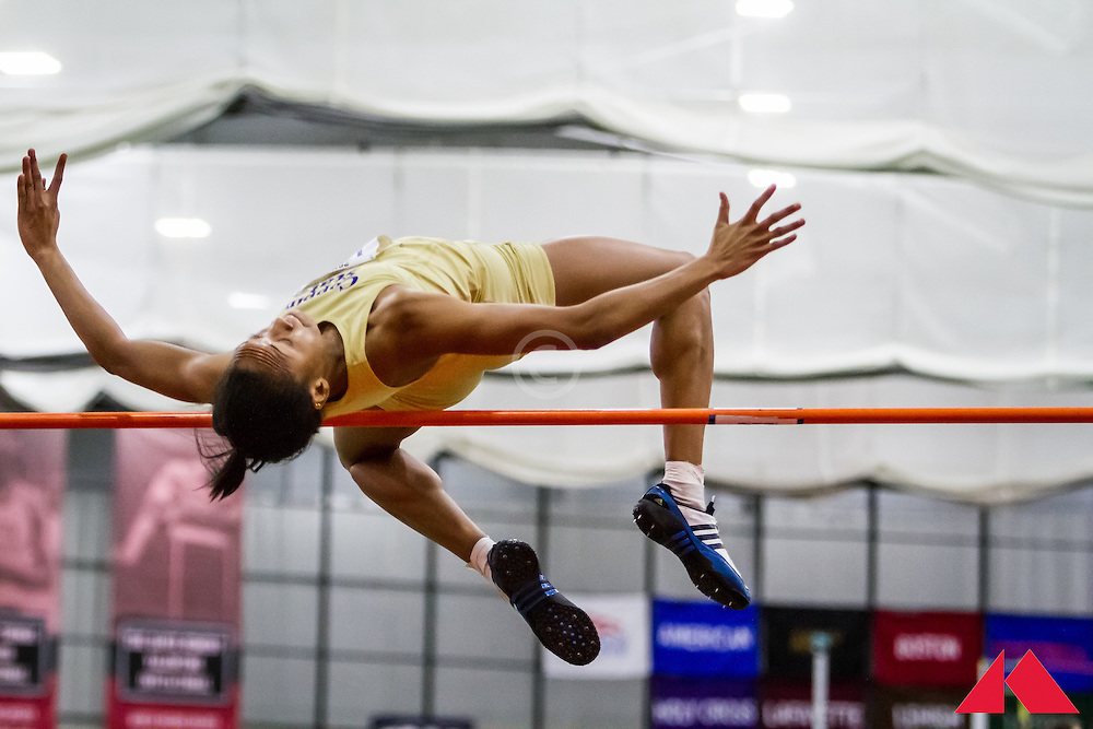ECAC Indoor Champs, womens high jump, Daniel, Deandra           JR Coppin State