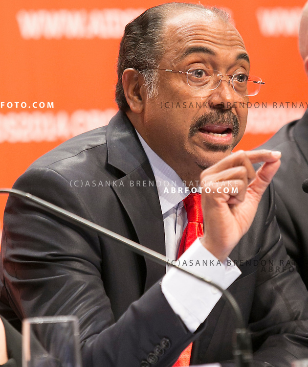 20/07/2014. Under-Secretary-General of the United Nations Michel Sidibé speaks during the official opening press conference of the 20th International AIDS conference held in Melbourne Australia on July 20, 2014.  Photo credit : Asanka Brendon Ratnayake
