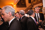 Chicago Mayor Rahm Emanuel, left, New York City Mayor Michael Bloomberg, center, and actor George Clooney, right, attend the Bloomberg Vanity Fair White House Correspondents' Association dinner afterparty at the residence of the French Ambassador on Saturday, April 28, 2012 in Washington, DC. Brendan Hoffman for the New York Times