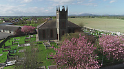 Knockbridge, County, Louth, Aerial photo, Church, village, countryside,