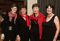 Sophia Wessin, Marian Lynsky, Rita Duane and Henrietta Broderick from Galway Sings Project who performed  at Choir Factor in the Radisson Blu.<br /> Choir Factor is a fundraiser for The Sccul Sanctuary, Therapeutic Support Centre in Kilcornan Clarenbrdge.<br /> <br />  Photo:Andrew Downes, xposure.