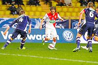 Bernardo Silva / Jesper Juelsgaard / Olivier Sorlin  - 21.01.2015 - Monaco / Evian Thonon   - Coupe de France 2014/2015<br /> Photo : Sebastien Nogier / Icon Sport