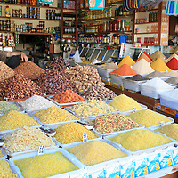 Spices and Pasta Market Stall, Marrakesh, Morocco