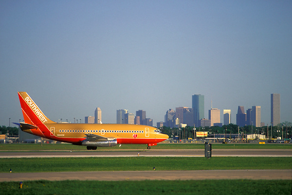Southwest Airlines Airplane at William P. Hobby Airport