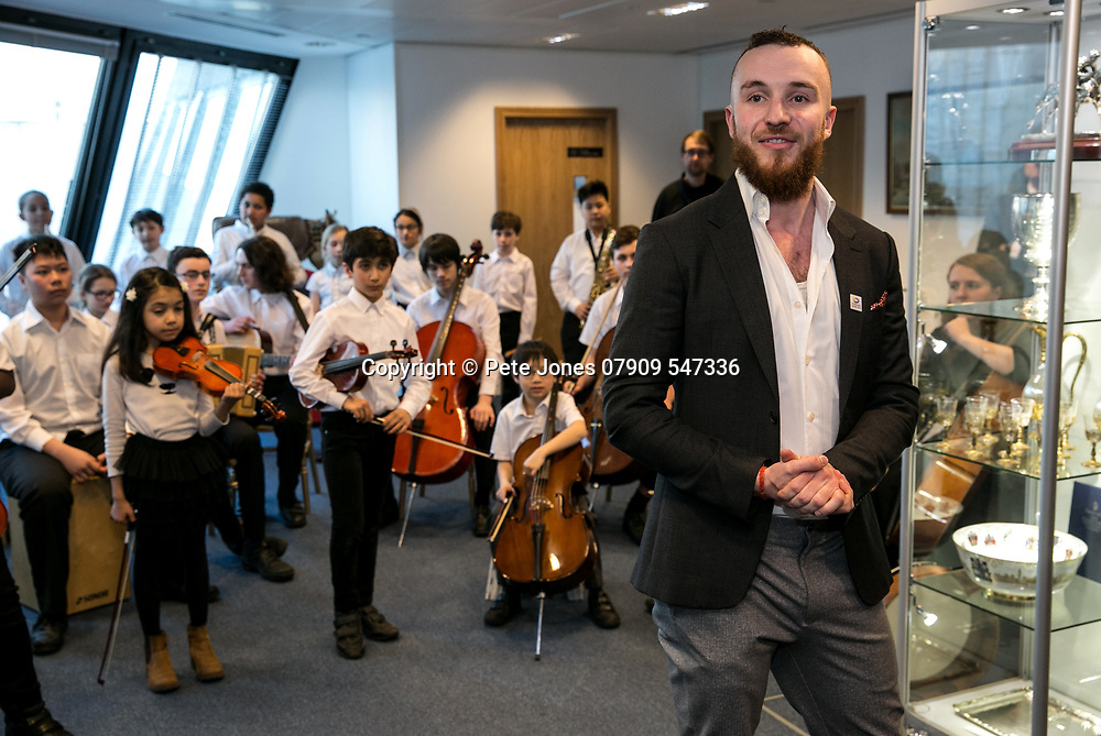 Tri-Borough Music Hub Reception;<br /> Lord Mayor of Westminster Offices;<br /> 5, The Strand, London, WC2N 5HR<br /> 28th March 2018.<br /> <br /> &copy; Pete Jones<br /> pete@pjproductions.co.uk