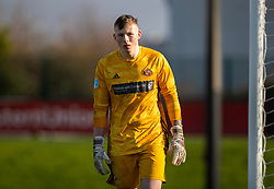 LIVERPOOL, ENGLAND - Monday, February 24, 2020: Sunderland's goalkeeper Anthony Patterson during the Premier League Cup Group F match between Liverpool FC Under-23's and AFC Sunderland Under-23's at the Liverpool Academy. (Pic by David Rawcliffe/Propaganda)