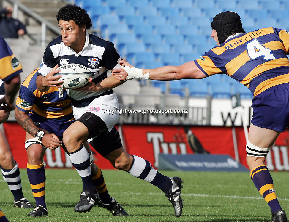 Doug Howlett in action during the Air NZ Cup rugby match between Auckland and Bay of Plenty at Eden Park, Auckland, New Zealand on 7 October, 2006. Auckland won the match 47 - 14. Photo: Hannah Johnston/PHOTOSPORT<br /><br /><br /><br /><br />071006