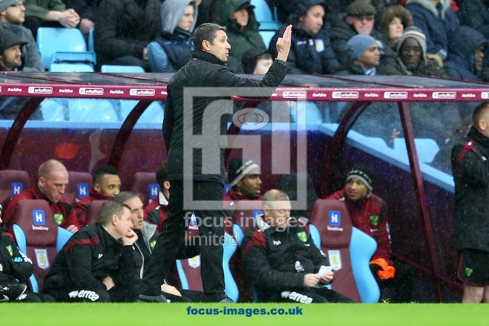 Aston Villa Manager Remi Garde during the Barclays Premier League match at Villa Park, Birmingham<br /> Picture by Paul Chesterton/Focus Images Ltd +44 7904 640267<br /> 06/02/2016
