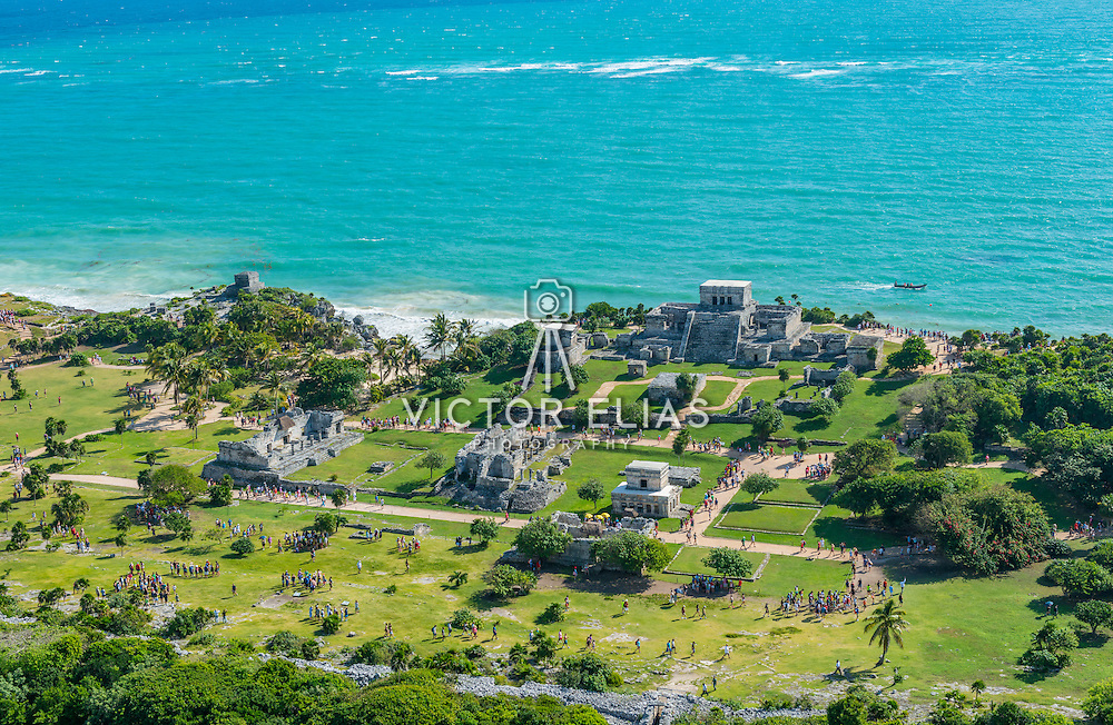 Tulum Archeological site. Quintana Roo. Mexico.